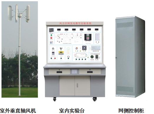 SBKA-2KW垂直轴风力并网发电教学实验系统 一、系统概述 2KW风力发电教学实验系统是一套符合风力发电专业和实际风电专业教学要求的风力发电系统,以满足学生教学实训要求,教学实训项目的要求并具一定的特色。系统由室外风力发电机、叶片、塔架,室外防雷箱,并网控制器,并网逆变器,控制柜等组成,系统能进行并网发电全过程实验,是职高、大学、研究生以风力发电为主课题的研究和培训、教学的理想产品。  室外垂直轴风机 室内实验台 网侧控制柜 二、运行技术参数 2、1、风力发电技术条件(单相输出)  风轮直径 2.