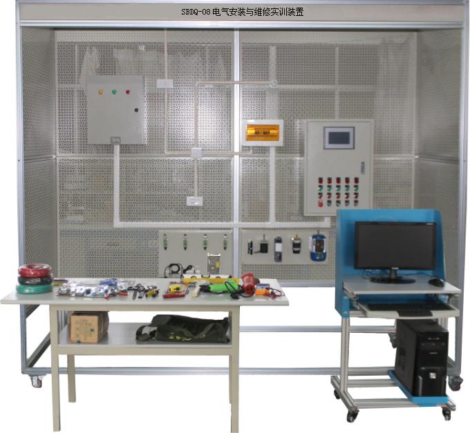 接触器联锁的三相异步电动机正反转控制电路实训