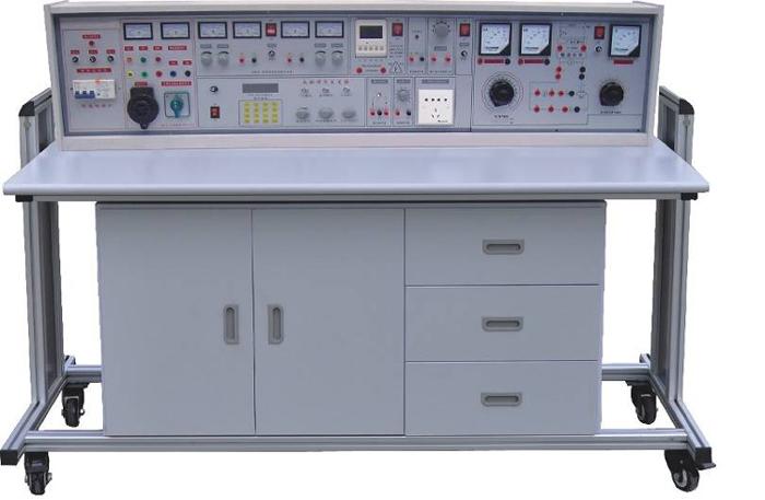 """SBX-98B通用电工、电子、电力拖动(带直流电机、三相可调)实验室成套设备 一、研制本产品的意义:该设备是在""""SBX-98A通用电工、电子、电力拖动(带直流电机)实验室成套设备""""的基础上增加了直流电机的调速环节、直流实验电机、0~380V三相可调调压环节等,除能完成前者全部实验内容外,能完成教学大纲要求的基础直流电机实验。该设备研制成功,解决了广大学校直流电机实验元器件难以购置、难以管理、难以开出实验课的烦恼。该设备把电工学、电工原理、电子技术、电力拖动控制线路、直流电机实验有机的融"""