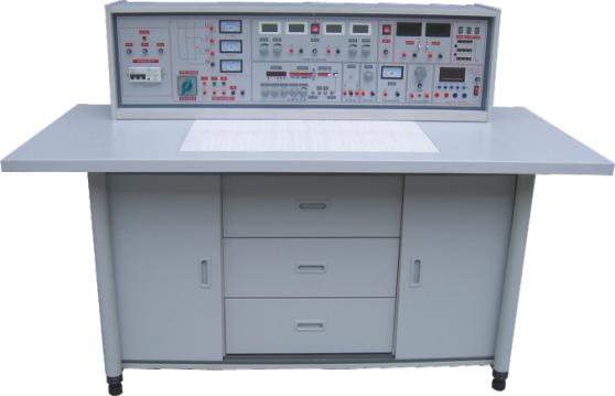 SB-760B 电工、模电、数电实验与技能实训考核实验室成套设备 本系列产品是电工、模电、数电、电拖实验与技能实训考核有机的结合,做到资源共享一室多用,减少实验实训指导教师人员和基建投入,经济效益显著。与SB-745系列产品相比本系列产品在实验台技术性能,实验内容深度与广度做了较大的改进。实验项目包括电工学、电工原理、模拟电子技术、数字电子电路、电力拖动、电气控制、继电控制等课程,可完成交直流、振荡、磁场电路、运算放大器、整流电路、交直流放大电路、数字逻辑电路、电气控制等电路实验。采用德国职业教育先进的实