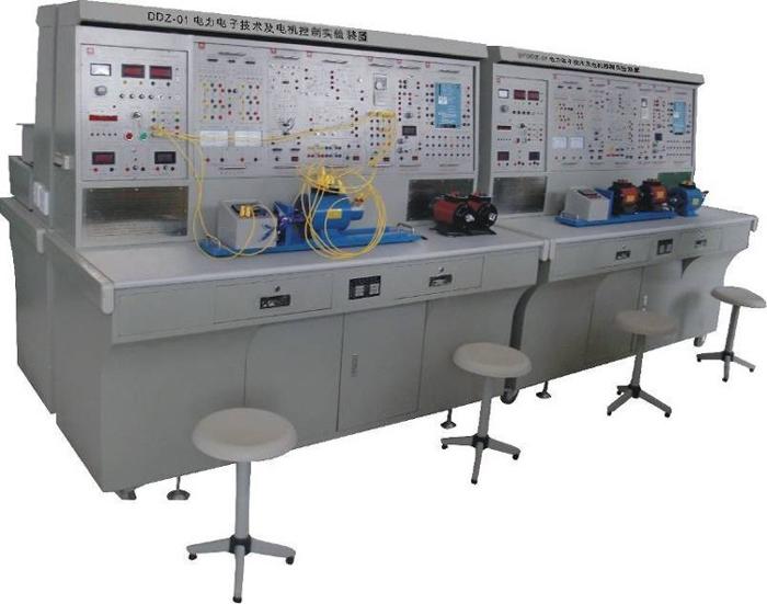 "SBDDZ-01电力电子技术及电机控制实验装置  一、概述 ""SBDDZ-01型电力电子及电气传动技术实验装置""依据高等院校最新统编教材《电力电子技术》(第五版)(西安交通大学王兆安编著)、《电力拖动自动控制系统》(第三版)(上海大学陈伯时编著)等实验大纲的要求,吸收国内、外同类产品的优点,充分考虑了实验室的现状和发展趋势,精心研制而成。在同类产品中结构合理、功能完善、可靠性好、性价比高。 二、特点 1、综合性强本装置综合了目前国内各类学校电力电子、半导体变流、交直流调速、交流变频、电"