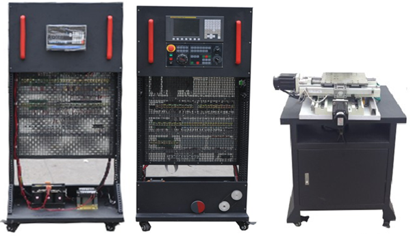 SBSKB-08T-8A型数控车床装调与维修考核实训设备 功能说明: 本系统是专门为职业学校、职业教育培训机构研制的数控车床装调与维修考核实训设备,根据机电行业中数控车床维修技术的特点,并结合数控车床装调维修工的技能鉴定要求,对数控车床电气控制及机械传动进行研究,针对实训教学活动进行了专门设计,包含了数控系统应用、PLC控制、变频调速控制、传感器检测、伺服驱动控制、高低压电气控制、机械传动等技术、强化了学生对数控车床的安装、接线、调试、故障诊断与维修等综合动手能力。适合机电类相关专业的教学和培训,也适合数
