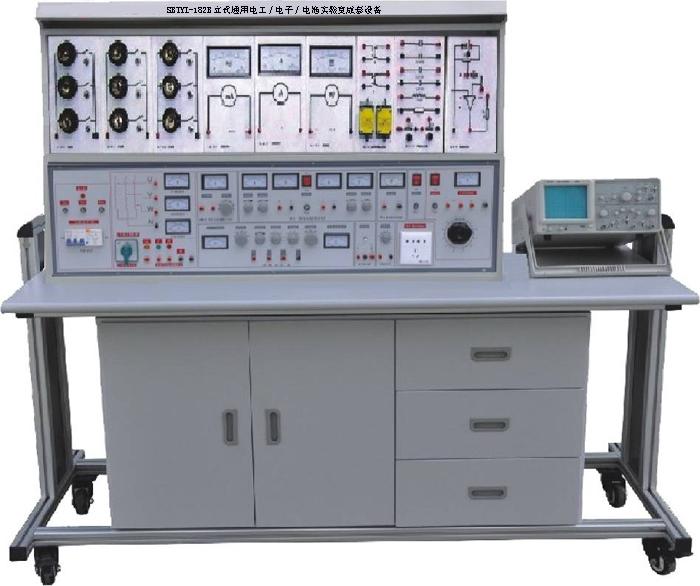 8、用户自备器材: (1)示波器(型号不限); (2)晶体管毫伏表; (3)滑线变阻器; (4)功率表 四、实验项目 (一)电工部分实验: 1.常用电工仪表的使用 2.线性元件与非线性元件的伏安特性 3.直流电路电压与电位的研究 4.基尔霍夫定律的验证 5.迭加原理与互易定理的验证 6.代文宁定理与诺顿定理的验证 7.电压源与电流源的等效变换 8.受控源的研究 9.一阶电路的响应 10.二阶电路的响应 11.研究LC元件在直流电路和交流电路中的特性 12.交流电路参数的测量 13.正弦交流电路RLC元件的