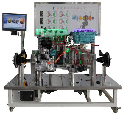 发动机,电源分离装置,电动机,逆变器和电池都被解剖,并且涂上不同颜色